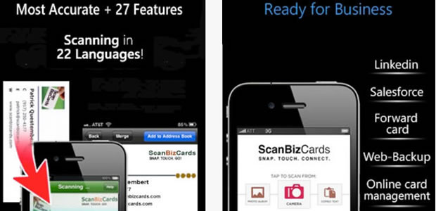 scan biz cards Best iOS Apps to Replace Physical Business Card   Save Paper