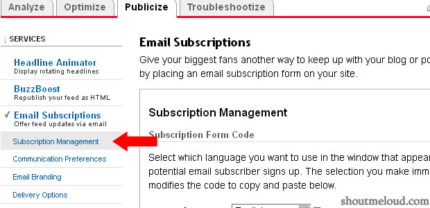 subscription management feedburner Why And How to Take Backup of Feedburner Mailing list