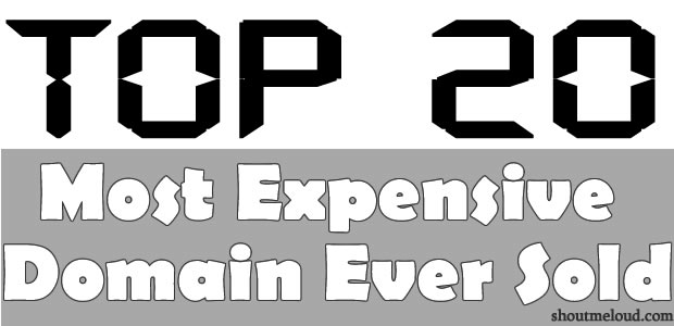 top20 domain sold Top 20 Most Expensive Domain Names Ever Sold : 2014 List