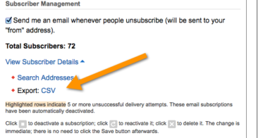 Why And How to Take Backup of Feedburner Mailing list