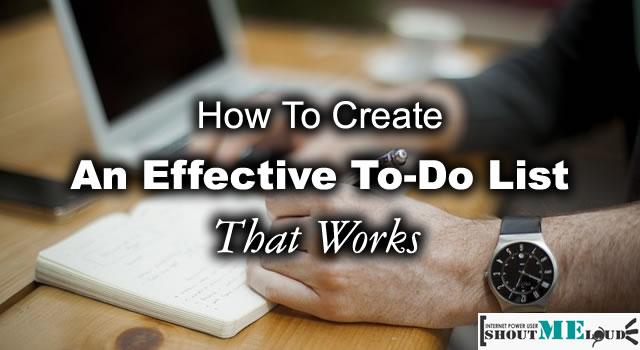 Create an Effective To Do List