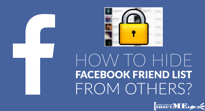 how to remove your friends list on facebook