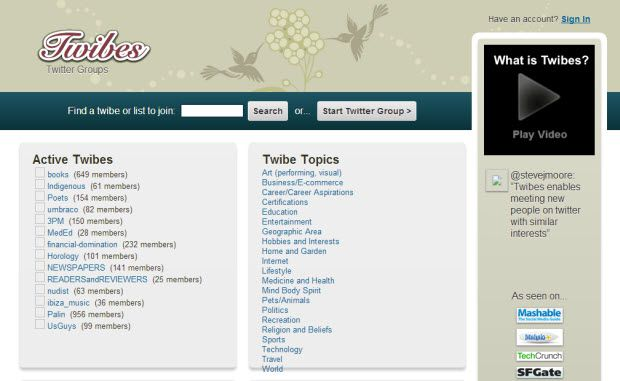Twibes Top 12 Twitter Directories To List YourSelf and Gain Followers