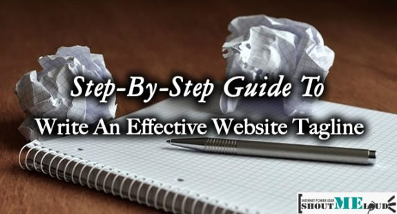 Write Website Tagline