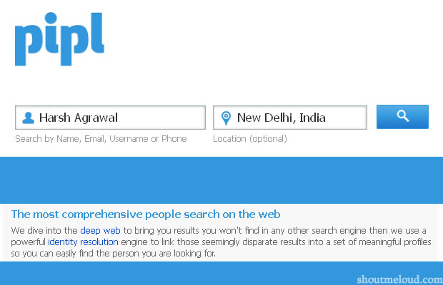 pipl people search engine Pipl : A Dedicated Search Engine For Finding People Information