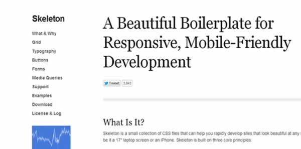 skeleton css framework Best CSS Frameworks to create Responsive website design