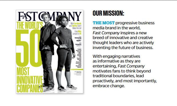 Fast company media kit Intro