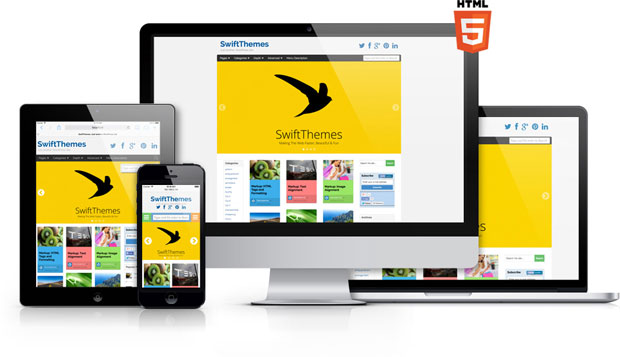 Free Premium Swift WordPress theme