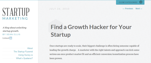 Growth hacking Startup Marketing screenshot1 What Is Growth Hacking and Why You Need To Know About It