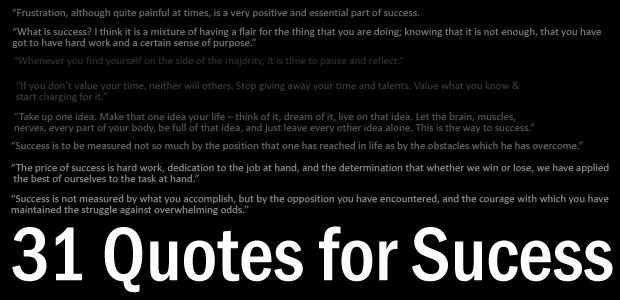 Quotes for Sucess 31 Quotes For Success From Famous People