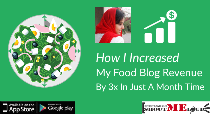 Food Blog Revenue