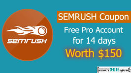 SEMRUSH Coupon : Free Pro Account for 14 days Worth $150