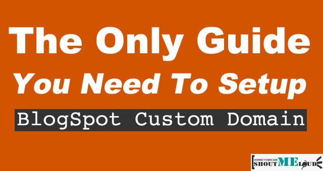 SetUp Blogspot Custom Domain