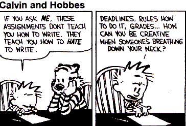 Calvin and Hobbes Writing tips