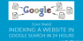 How to Index a Website in Google Search in 24 Hours [Case Study]