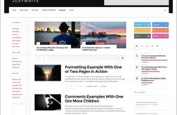 JustWrite WordPress Theme Review : Free Theme for Writers