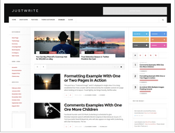 JustWrite WordPress Theme Review : Free Theme for Writers