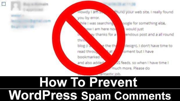 Prevent WordPress Spam Comments