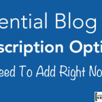 Subscription Options For Blog 150x150