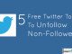 5 Free Twitter Unfollow Tool to Unfollow Non-Followers