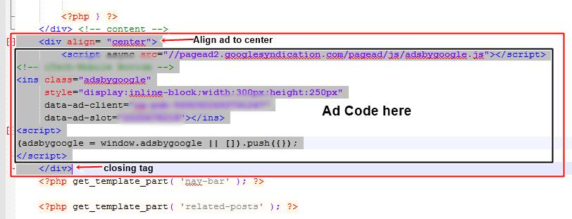 wptoch footer ad AdSense