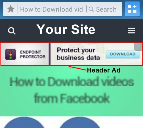 wptouch header ad