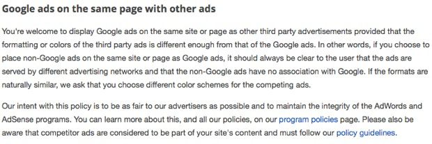 AdSense Ads with other ad network Can You Use AdSense And Affiliate Ads on Same Web Page?