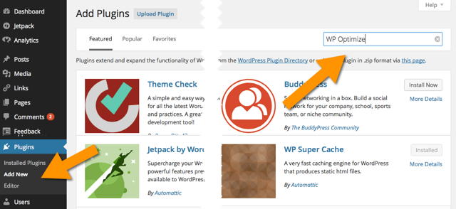 Install new WordPress plugin