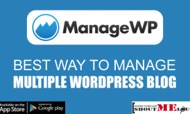 Best Way To Manage Multiple WordPress Blog is With ManageWP