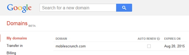 Purchased domain from Google Domains