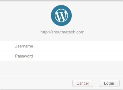 WordPress Blog credentials