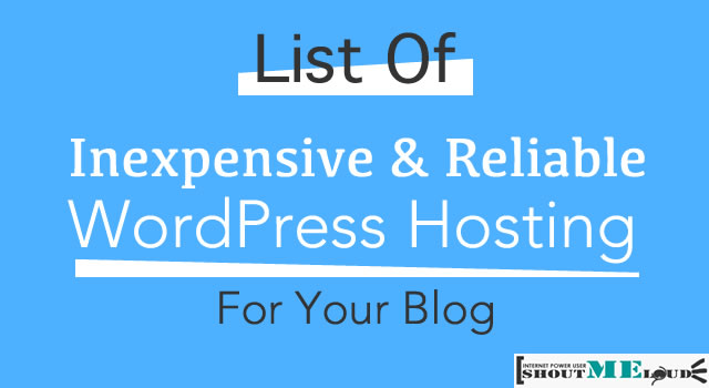 WordPress Hosting for blog