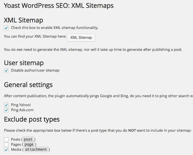 Yoast WordPress Sitemap plugin