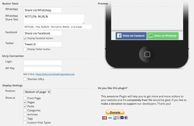 mobile share bar WordPress plugin