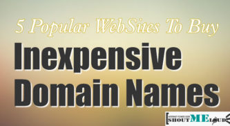 5 Popular WebSites To Buy Cheap Domain Names