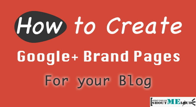 Create Google Plus Brand Pages