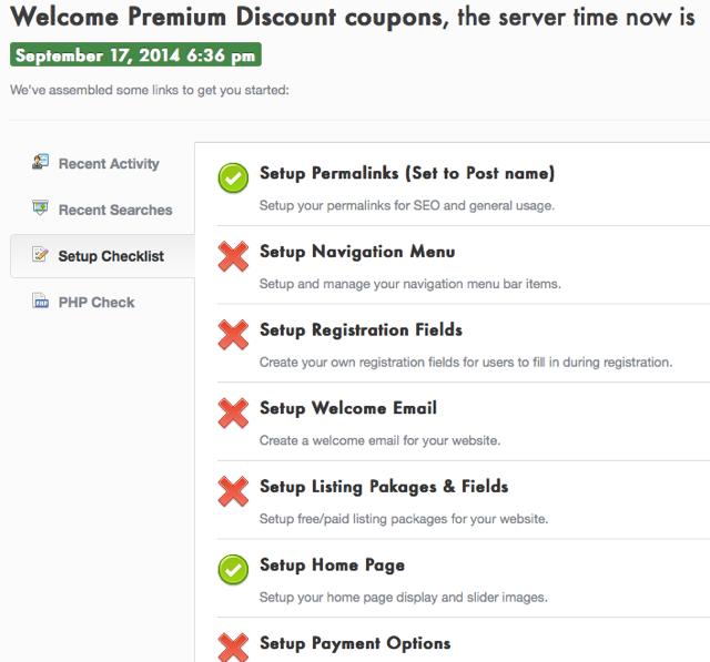 Discount Coupon WordPress theme