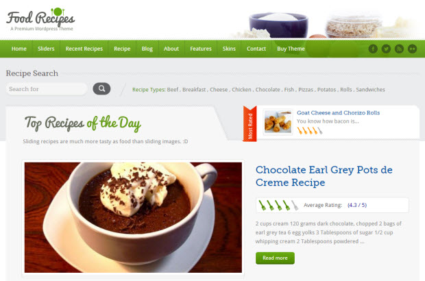 4 best food recipes wordpress themes to make your blog look yummy top 5 wordpress themes for your food blog forumfinder Gallery