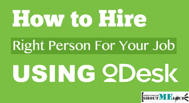 Hire Freelancer on Odesk