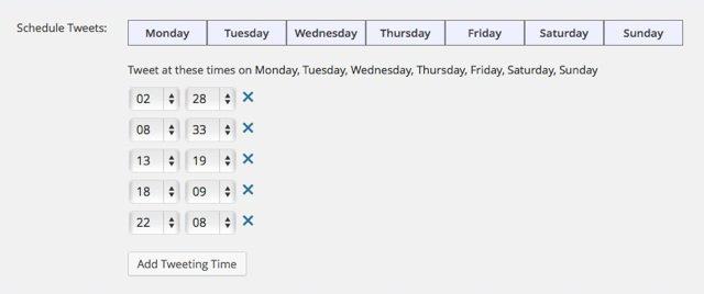 ScheduleTweet time