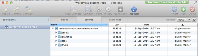 WordPress plugin repo