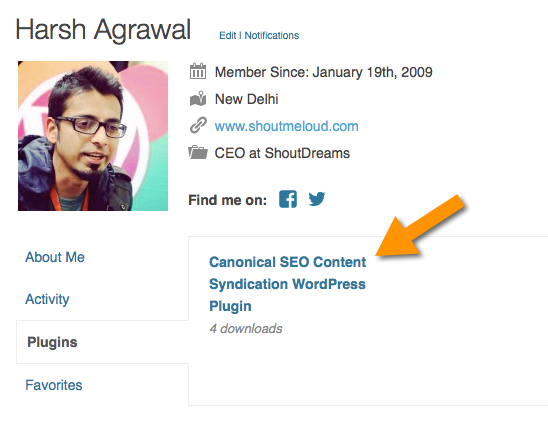 first WordPress plugin added