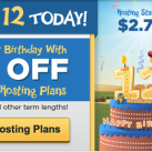 Hostgator Hosting 12th Anniversary Offer: 65% Discount