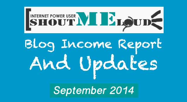 Shoutmeloud Blog Income report September