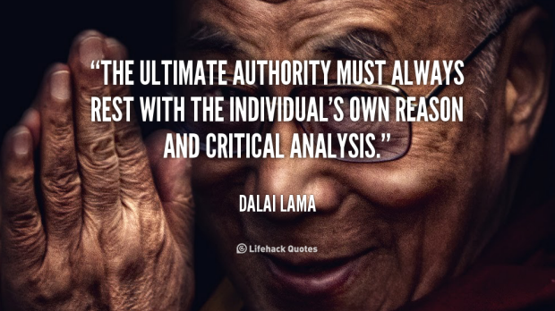 Authority quotes by Dalai Lama