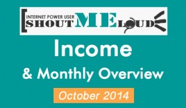 ShoutMeLoud October 2014 Income, Traffic & Monthly Overview
