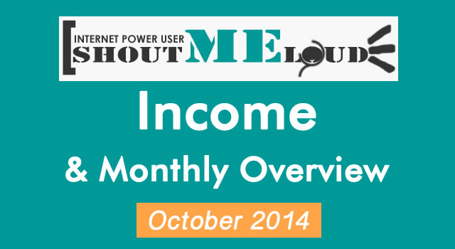 Shoutmeloud Monthly Income - October