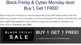 Templatic Theme BlackFriday & CyberMonday Sale: Buy 1 Get 1 Free