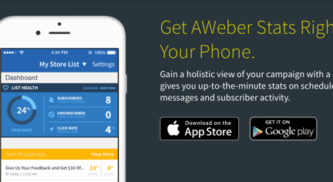 3 Email-Marketing Mobile App From Aweber