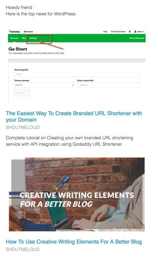 Email l Newsletter using Curate